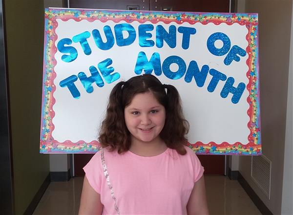 <center>Congratulations to our April Student of the Month,<br> Anna Bella Cappola.<center><HR>