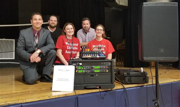 "<center>Thank you PTA for the amazing sound system donation. <br>  It's debut will be on June 12th for our annual school play.  We hope you can join us for <br> ""Disney - My Son Pinocchio Jr.""</center>"