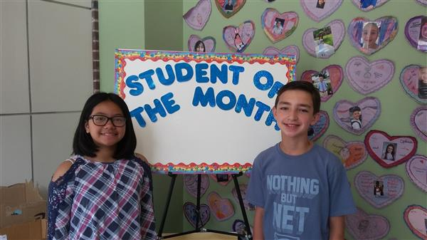 <center>Congratulations to our June Students of the Month, Mariel Bucud and Riley Friedman.<br> <center><HR>