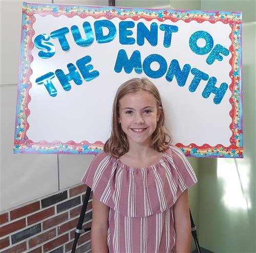 <center>Congratulations to our October Student of the Month, Mikaela Pavlovic.<br><center><HR>