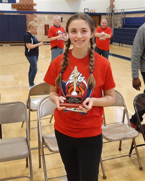 <center>Elks Lodge Hoop Shoot Contest<br>Congratulations to Nicolette Mele who finished 2nd place in Round 2.<br><small>Go Blue Devils!!!<br><br>Click for more details on our winners.</small></center><hr>