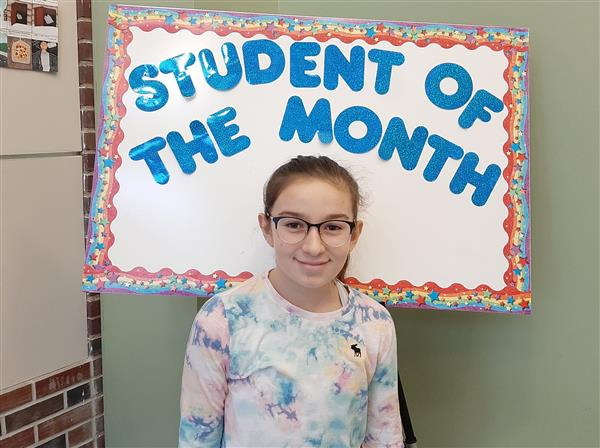 <center>Congratulations to our February Student of the Month, Francesca Fabi.<br><center><HR>