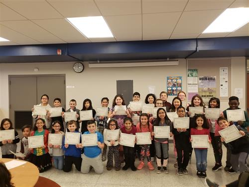 4th Grade Straight A's Students