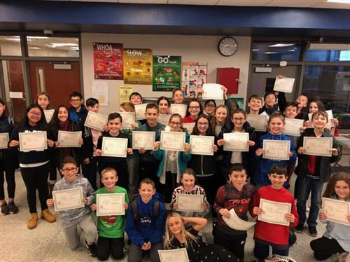 6th Grade Straight A's Students