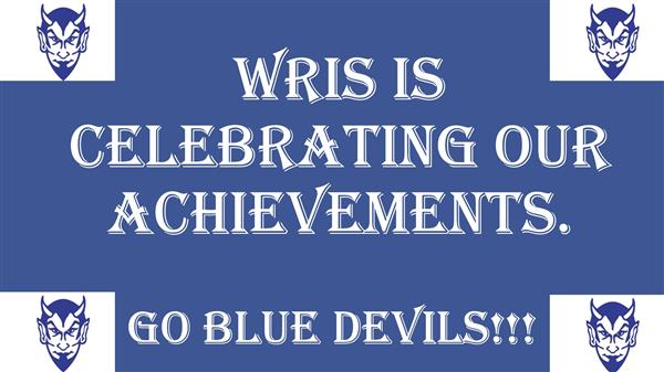 <center>Marking Period 2 Blue Devil Assembly - WRIS, Celebrating our Achievements <small><small><br>Click for pictures</small></small></center><hr>