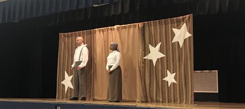 "<center>Bright Star Touring Theatre visits WRIS to Present ""North By Night"", an assembly about the Underground Railroad.<br><br>  Thank you to our PTA for providing this resource to our students.</center><hr>"