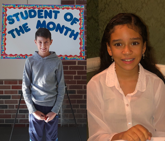 <center>Congratulations to our November Students of the Month, Jack Cordes and Emylia Garcia .<br><center><HR>