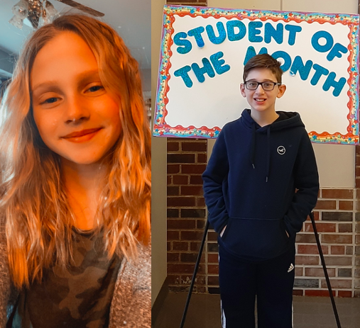<center>Congratulations to our January Students of the Month, Mia Fischkelta and Matthew Vitulano.<br><center><HR>
