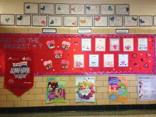 Here is a pic of our jump rope for heart bulletin board