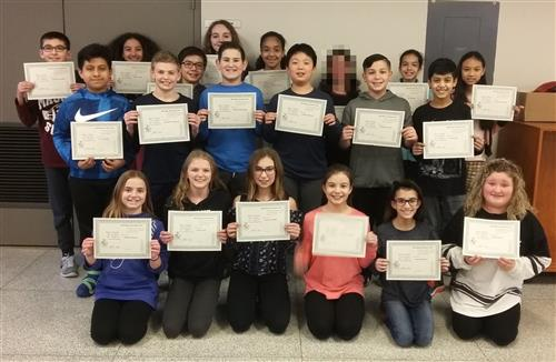 Grade 6 Honor Roll Students